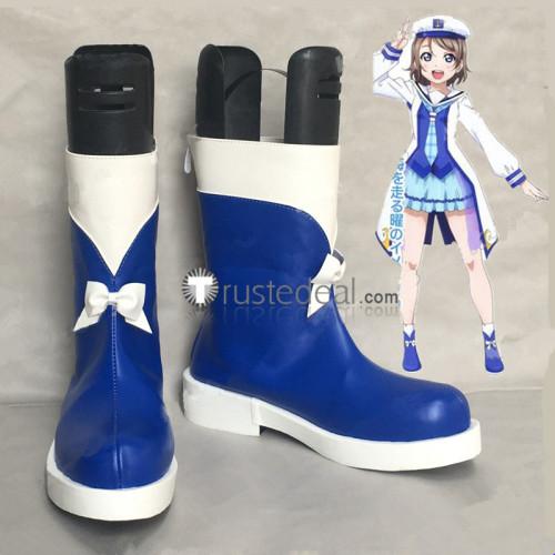 Love Live Aqours OP2 Mirai no Bokura wa Shitteru Yo Ruby Dia Mari Kanan Chika You Cosplay Boots Shoes