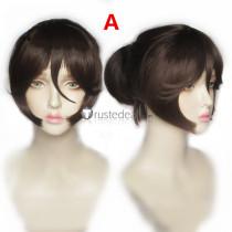 Danganronpa Trigger Happy Havoc Aoi Asahina Brown Ponytail Cosplay Wig