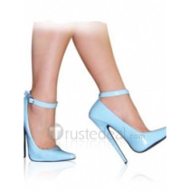 Patent Leather Upper High Heel Closed-toes Sexy Shoes(13309B)