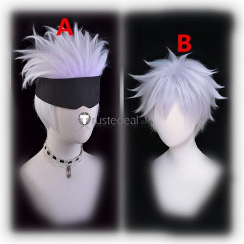 Jujutsu Kaisen Sorcery Fight Satoru Gojo Silver Purplish Cosplay Wigs