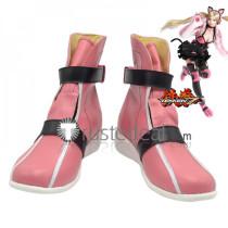 Tekken 7 T7 Lucky Chloe Pink Cosplay Shoes Boots