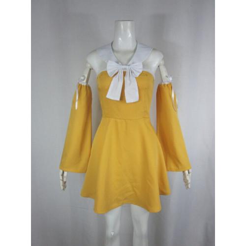 Fairy Tail Levy Mcgarden Orange Yellow Cosplay Costume