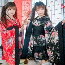 Gokuraku Jodo GARNiDELiA Lolita Kimono Yukata Black Red Cosplay Costumes