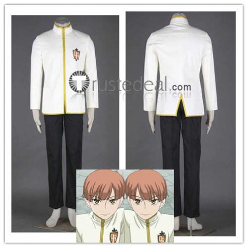 Ouran High School Host Club Twins Hitachiin Hikaru and Kaoru Middle School Uniform Cosplay Costume