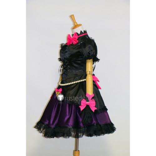 Overwatch D.Va Hana Song Black Cat Gothic Lolita Cosplay Costume3