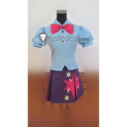 My Little Pony Equestria Girls Twilight Sparkle Light Blue Purple Cosplay Costume