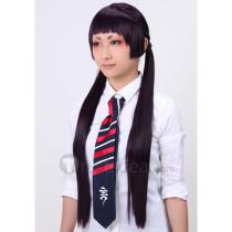 Blue Exorcist Kamiki Izumo Dark Purple Cosplay Wig