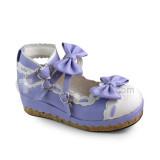 Sweet Black White Lolita Square Heels Shoes