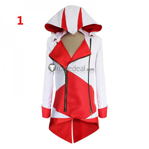 Assassins Creed 3 III Connor Kenway Hoodie Coat Jacket Cosplay Costume