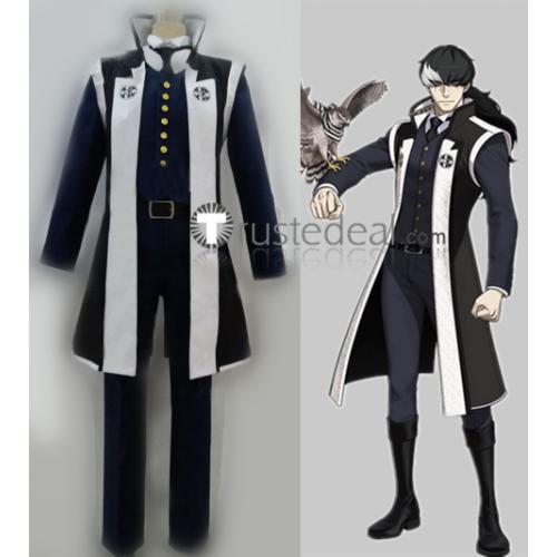 Ace Attorney Gyakuten Saiban Prosecutor Simon Blackquill Cosplay Costume