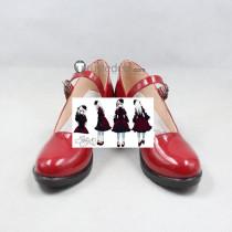 K Kushina Anna Cosplay Red Lolita Shoes