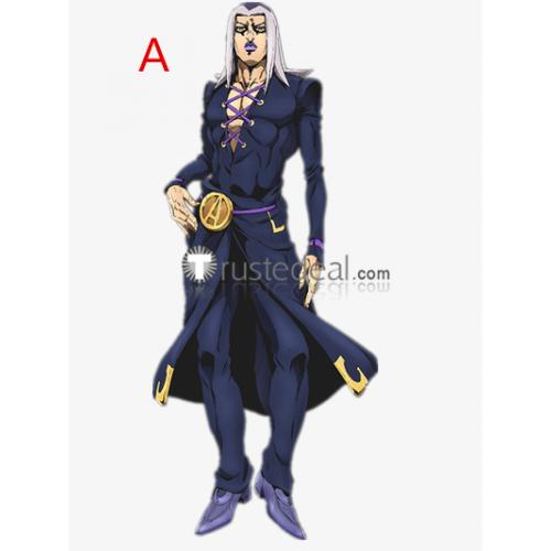 Jojo's Bizarre Adventure Vento Aureo 5 Leone Abbacchio Dark Blue Cosplay Costume