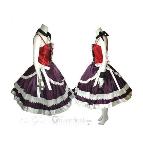 Rosario and Vampire Akashiya Moka Red Purple Lolita Dress Cosplay Costume