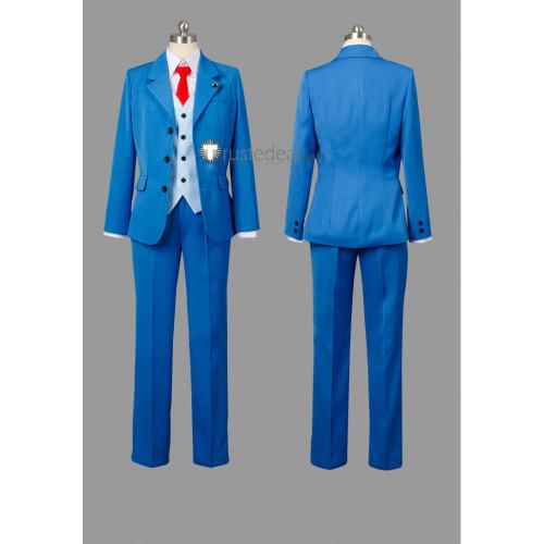 Gyakuten Saiban 4 Apollo Justice Ace Attorney Phoenix Wright Blue Cosplay Costumes