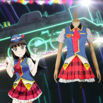 LoveLive Sunshine Aqours Yoshiko Ruby Chika Dia Riko Kanan Hanamaru You Mari Happy Party Train Cosplay Costumes