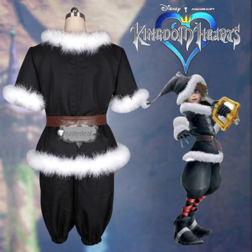 Kingdom Hearts 2 Sora Santa Form Christmas Town Black Cosplay Costume