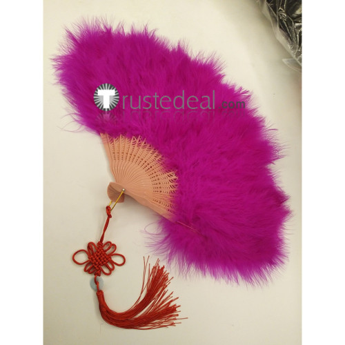 Noragami Yato King Pink Feather Fan Cosplay Props