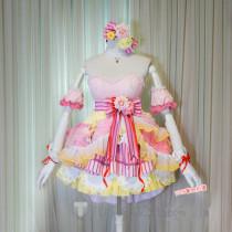 The Idolmaster Cinderella Girls Uzuki Shimamura Peaceful Days Starlight Stage Lolita Cosplay Costume