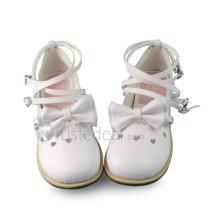White Bow Lolita Shoes