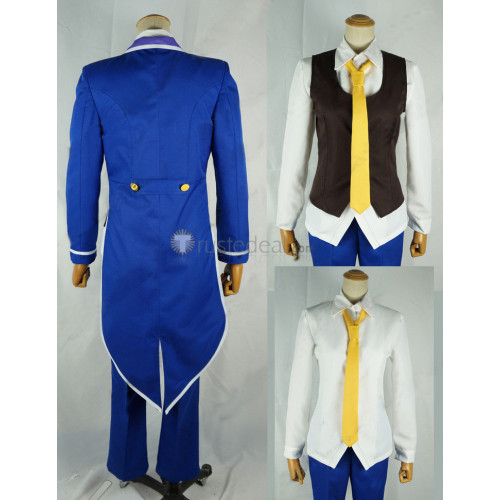 No Game No Life Sora King Blue Suit Cosplay Costume