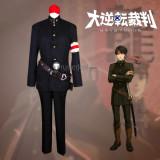 Dai Gyakuten Saiban Naruhodou Ryounosuke no Bouken Defense Attorney Kazuma Asougi Black Cosplay Costume