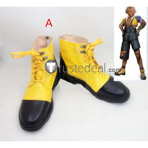 Final Fantasy X FF10 Tidus Yellow Cosplay Boots Shoes