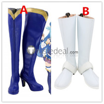 KonoSuba God's Blessing on this Wonderful World Aqua Dustiness Ford Lalatina Darkness Blue White Cosplay Boots Shoes