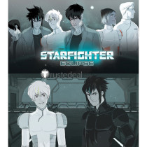 Starfighter Eclipse Abel Cain White Black Bodysuit Cosplay Costumes Wigs