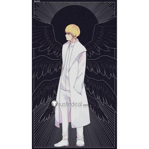 Devilman Crybaby Ryo Asuka White Coat Cosplay Costume Version 1