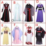 Mo Dao Zu Shi Lan Wangji Wei Wuxian Wei Ying Wen Ning Jiang Cheng Jiang Yanli Jin Ling Mo Xuan Yu Cosplay Costumes