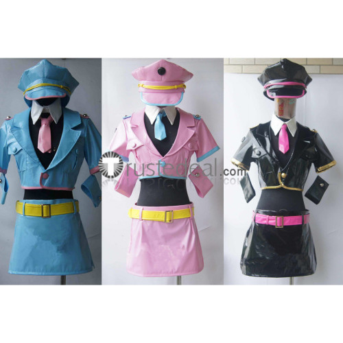 Super Sonico Sonico Space Police Black Blue Pink Cosplay Costumes