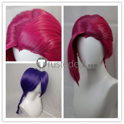 Jojo's Bizarre Adventure Vento Aureo Golden Wind Doppio Vinegar Pink Purple Styled Cosplay Wigs