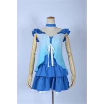 Love Live Rin Hoshizora Blue Perform Cosplay Costume