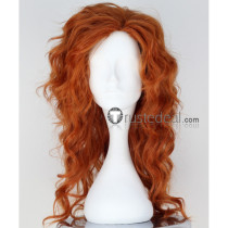 Disney Tinker Bell and the Pirate Fairy Zarina Orange Brown Cosplay Wig