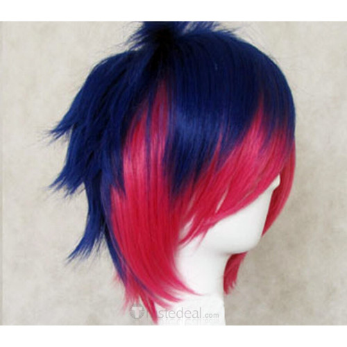 Panty & Stocking with Garterbelt Male Stocking Blue Pink Cosplay Wig