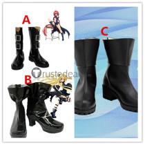 To Love-Ru Darkness Konjiki no Yami Mea Kurosaki Cosplay Black Shoes Boots