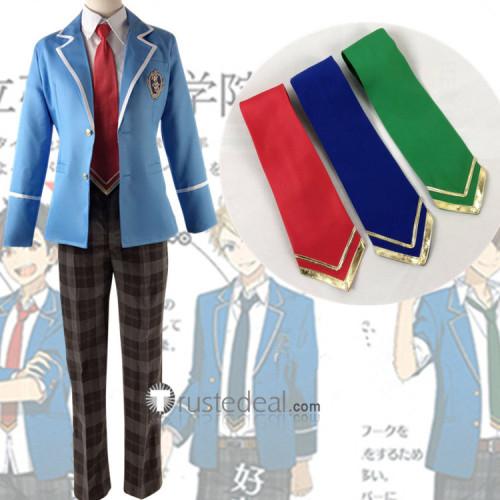 Ensemble Stars Trickstar Hokuto Hidaka Blue School Uniform Cosplay Costume