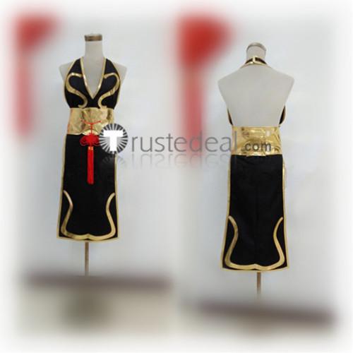Street Fighter 5 CHUN LI Black Golden Cosplay Costume