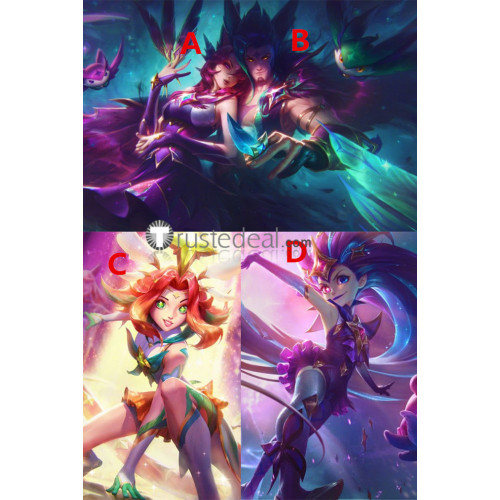 League of Legends LOL Star Guardian Xayah Rakan Zoe Neeko Prestige 2019 Cosplay Costumes