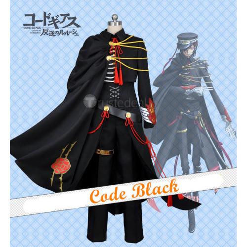 Code Geass 10th Anniversary Code Black Military Cosplay Costume