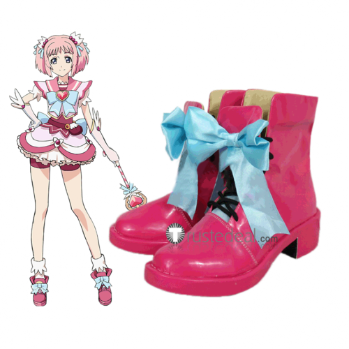 Re Creators Mamika Kirameki Pink Cosplay Boots Shoes