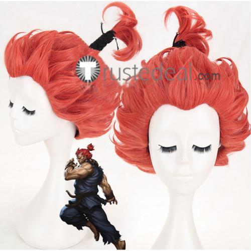 Street Fighter Akuma Gouki Great Demon Red Cosplay Wig