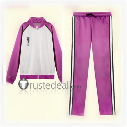 Haikyuu Shiratorizawa Academy Volleyball Uniform Wakatoshi Ushijima Satori Tendo Purple White Jersey Cosplay Costume