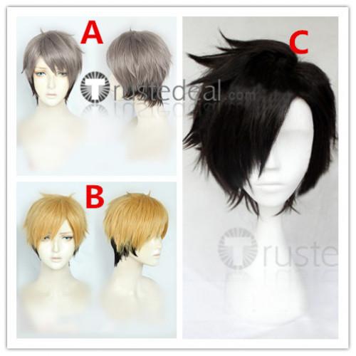 Haikyuu Nekoma High School Tetsuro Kuroo Miya Osamu Atsumu Black Grey Blonde Cosplay Wigs