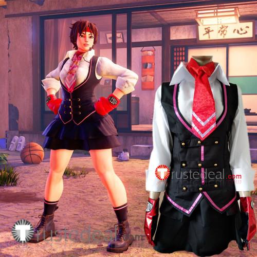 Street Fighter 5 V SAKURA Cosplay Costume