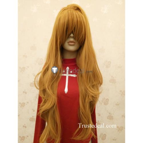 Toradora Taiga Aisaka Long Brown Cosplay Wig2