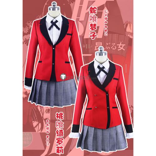 Kakegurui Jabami Yumeko Momobami Kirari School Uniform Cosplay Costumes