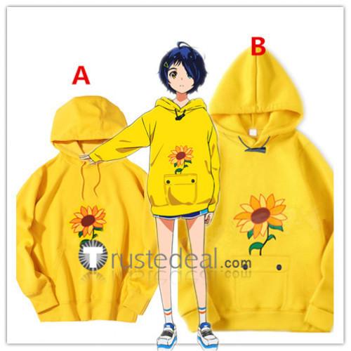 Wonder Egg Priority Ai Ohto Yellow Hoodie Cosplay Costumes