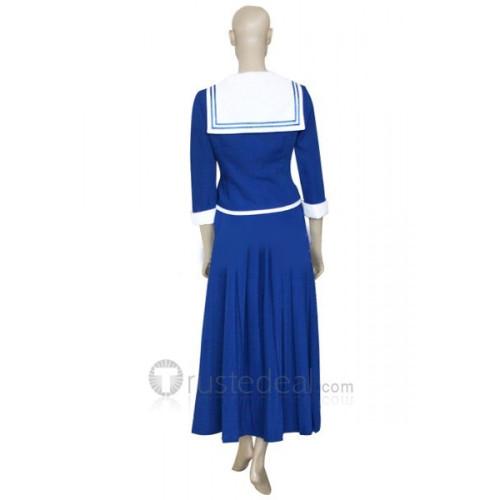 Fruits Basket Arisa Uotani Blue School Uniform Cosplay Costume Dress