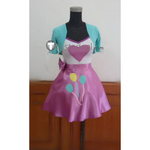 My Little Pony Equestria Girls Human Pinkie Pie Blue Pink Cosplay Costume
